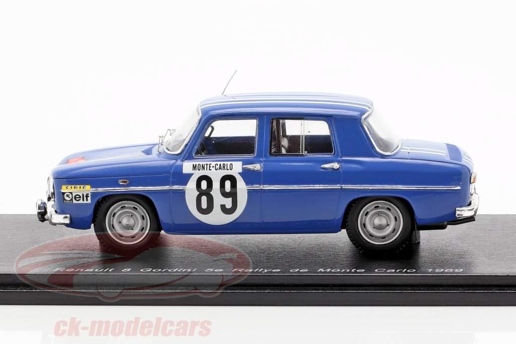 Renault 8 Gordini #89 5. Rallye Monte Carlo 1969 Therier, Callewaert 1:43 Spark