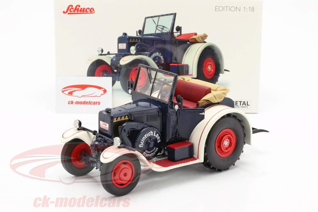 Lanz Eilbulldog trattore blu / bianco 1:18 Schuco