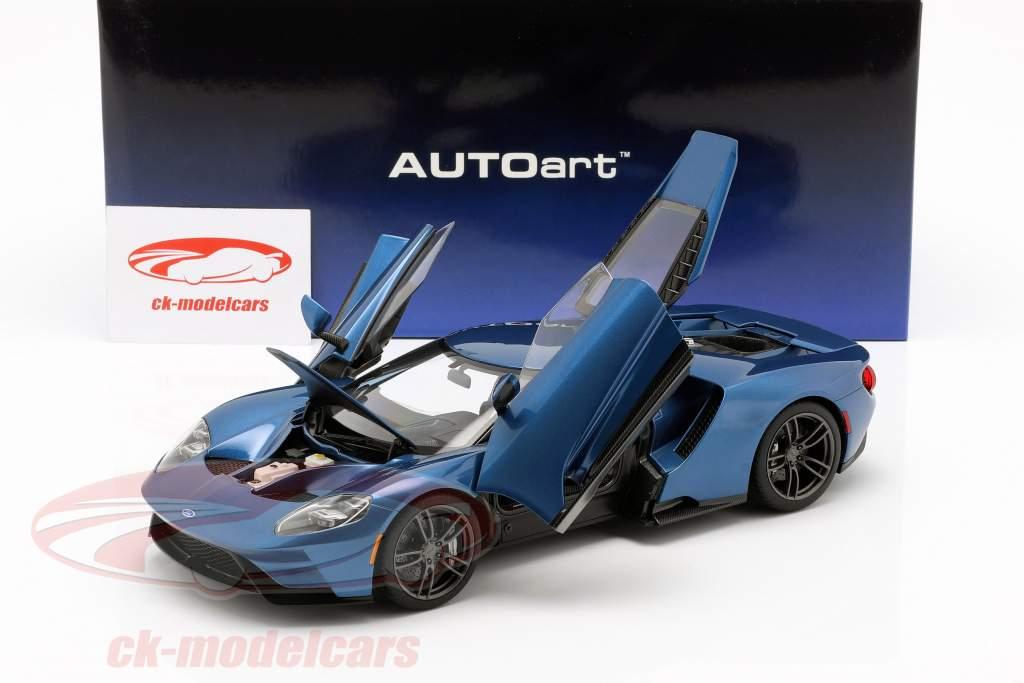 Ford GT Baujahr 2017 liquid blau 1:18 AUTOart