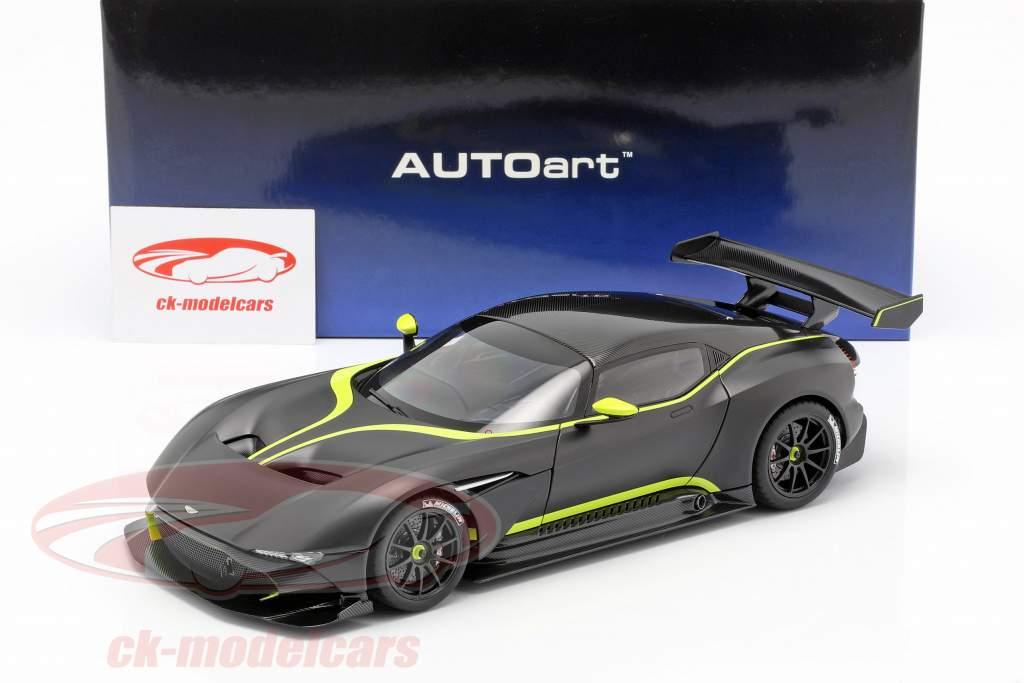 Aston Martin Vulcan Baujahr 2015 mattschwarz / limettengrün 1:18 AUTOart