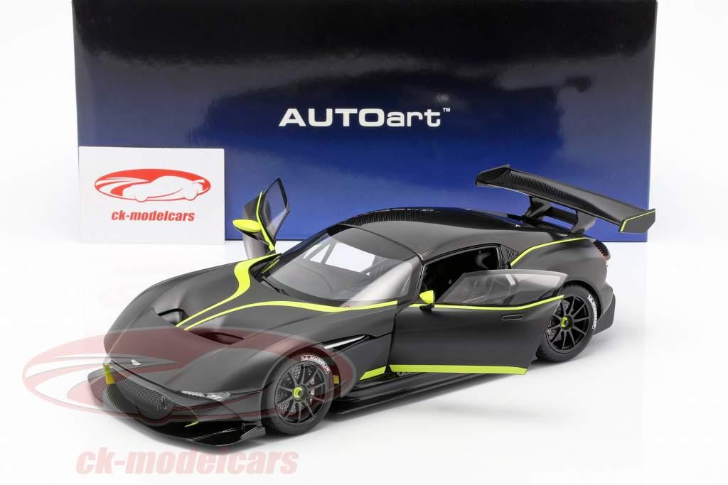 Aston Martin Vulcan Opførselsår 2015 måtten sort / lime grøn 1:18 AUTOart