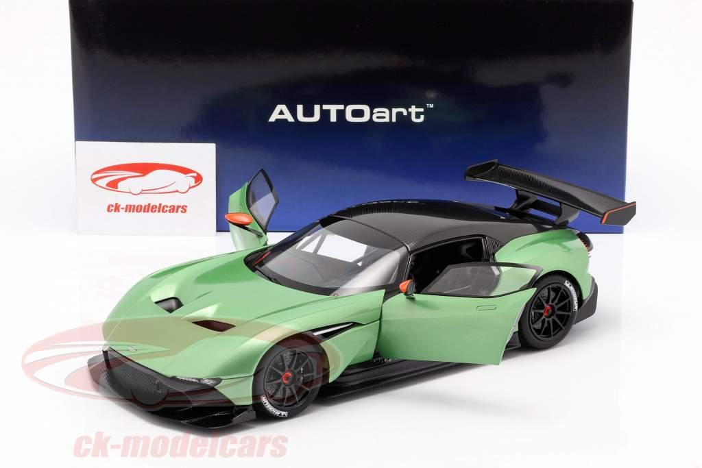 Aston Martin Vulcan Opførselsår 2015 æble træ grøn metallisk 1:18 AUTOart