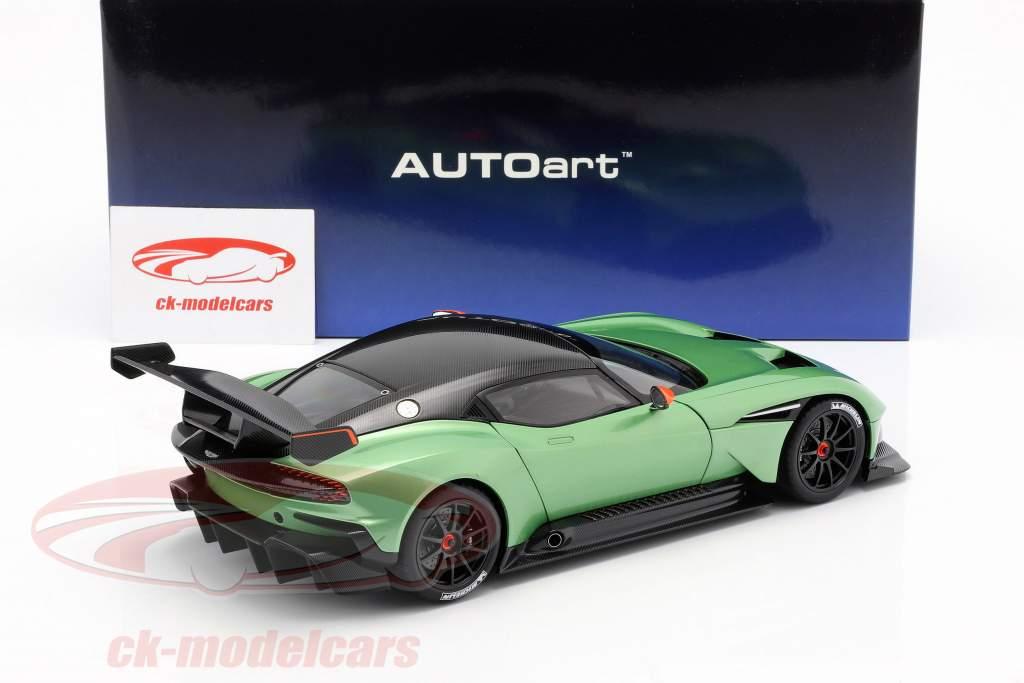 Aston Martin Vulcan año de construcción 2015 manzana árbol verde metálico 1:18 AUTOart
