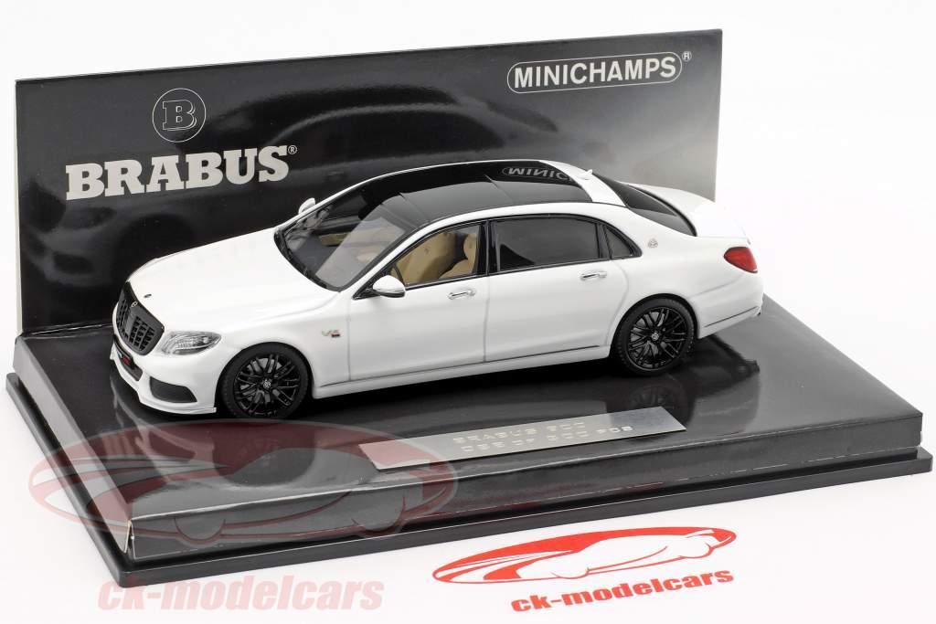 Maybach Brabus 900 baseado em Mercedes-Benz Maybach S600 2016 branco 1:43 Minichamps