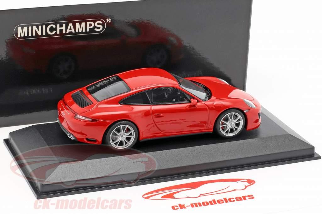 Porsche 911 (991 II) Carrera 4S ano de construção 2016 guardas vermelho 1:43 Minichamps