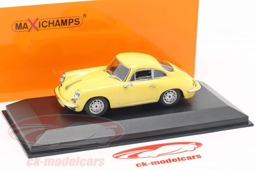 Porsche 356 C Carrera 2 année de construction 1963 jaune clair 1:43 Minichamps