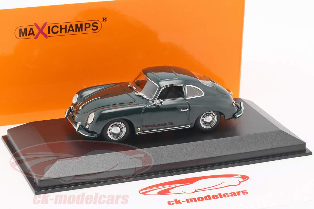 Porsche 356 A coupe Opførselsår 1959 mørkegrøn 1:43 Minichamps