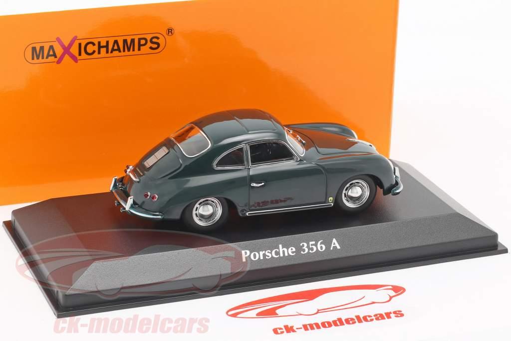 Porsche 356 A coupe year 1959 dark green 1:43 Minichamps