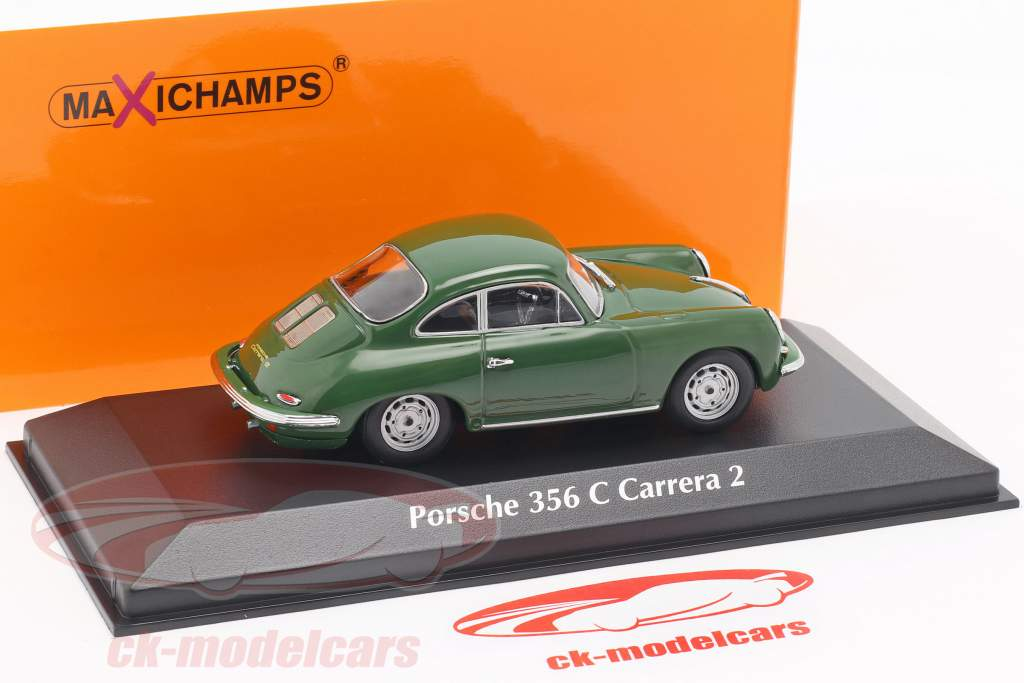 Porsche 356 C Carrera 2 anno di costruzione 1963 verde scuro 1:43 Minichamps