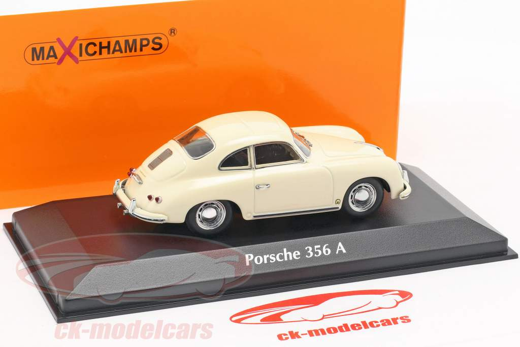 Porsche 356 A coupe Bouwjaar 1959 crème wit 1:43 Minichamps