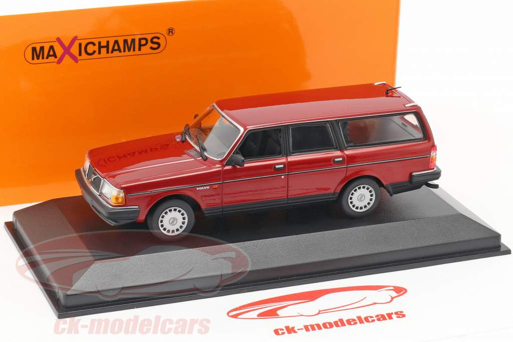 Volvo 240 GL Break année de construction 1986 sombre rouge métallique 1:43 Minichamps