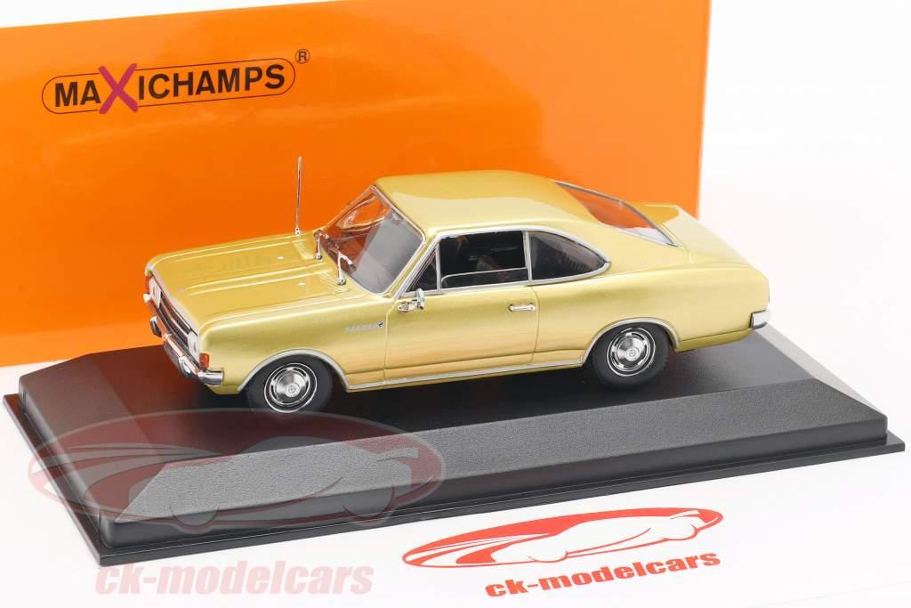 Opel Rekord C coupé année de construction 1966 or 1:43 Minichamps