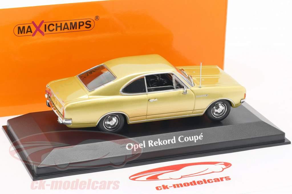 Opel Rekord C coupe año de construcción 1966 oro 1:43 Minichamps