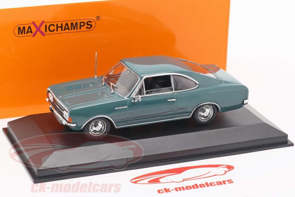 Opel Rekord C coupe anno di costruzione 1966 blu 1:43 Minichamps