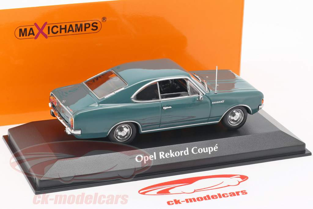 Opel Rekord C Coupe year 1966 blue 1:43 Minichamps