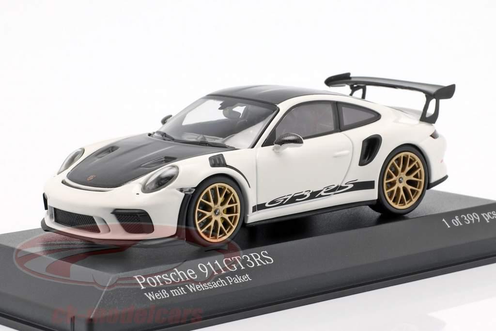 Porsche 911 (991 II) GT3 RS pacote de Weissach ano de construção 2018 branco 1:43 Minichamps