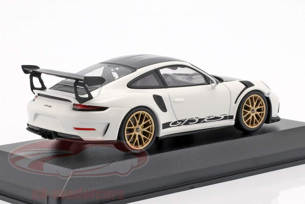 Porsche 911 (991 II) GT3 RS Weissach-Paket Baujahr 2018 weiß 1:43 Minichamps