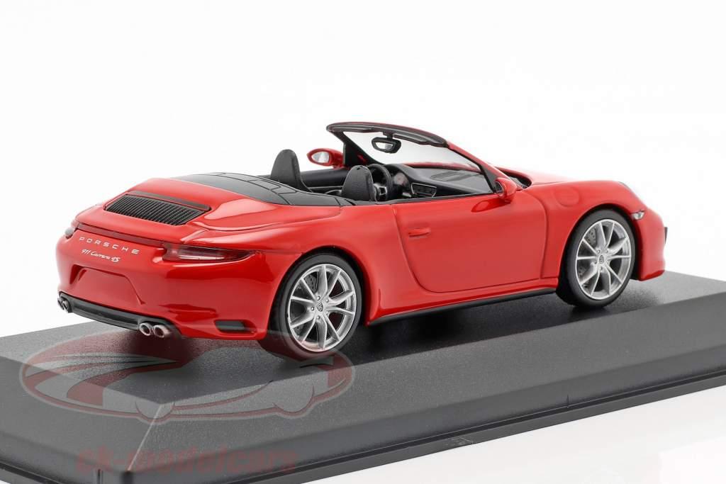 Porsche 911 (991 II) Carrera 4 Cabriolet Bouwjaar 2016 bewakers rood 1:43 Minichamps