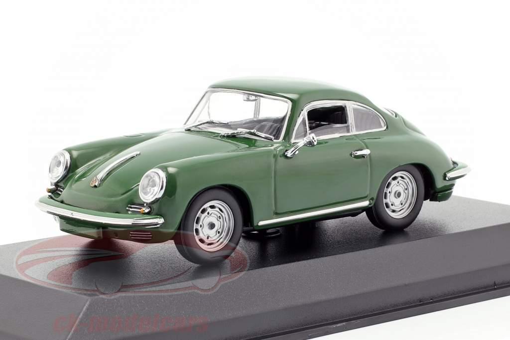 Porsche 356 C Carrera 2 Baujahr 1963 dunkelgrün 1:43 Minichamps
