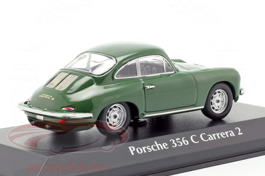 Porsche 356 C Carrera 2 Opførselsår 1963 mørkegrøn 1:43 Minichamps