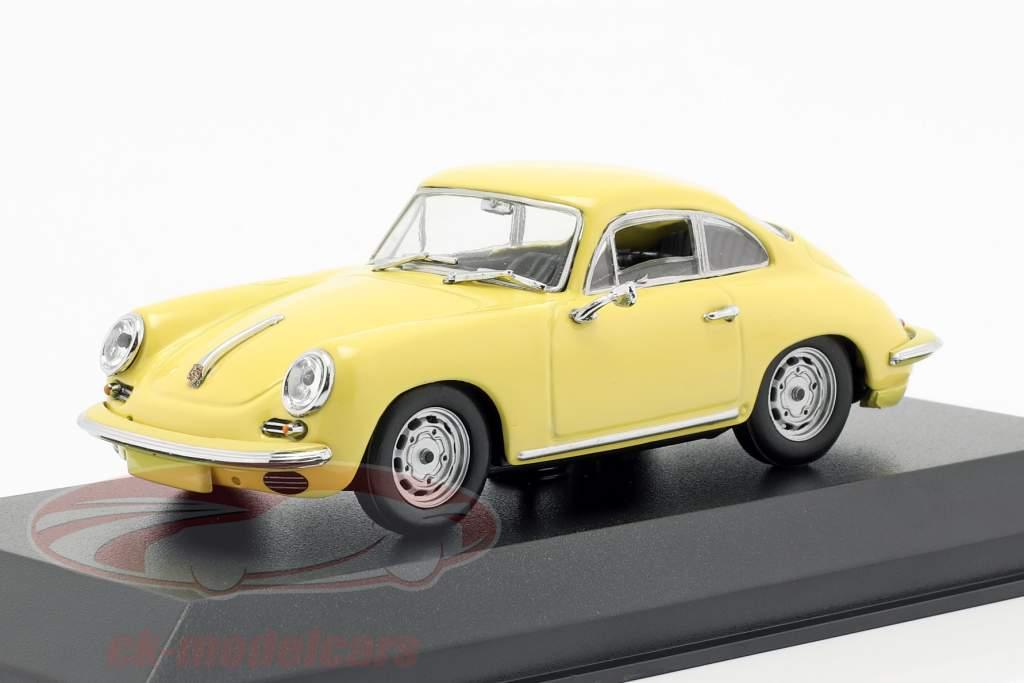 Porsche 356 C Carrera 2 Bouwjaar 1963 lichtgeel 1:43 Minichamps