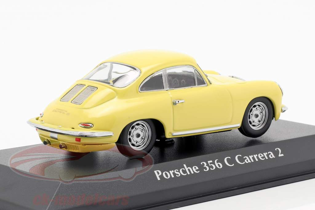 Porsche 356 C Carrera 2 ano de construção 1963 luz amarela 1:43 Minichamps