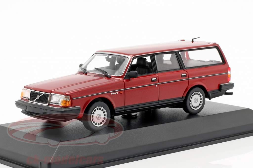Volvo 240 GL Break year 1986 dark red metallic 1:43 Minichamps