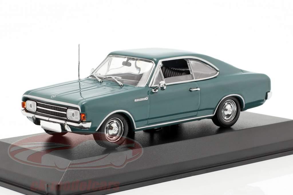 Opel Rekord C Coupe Baujahr 1966 blau 1:43 Minichamps