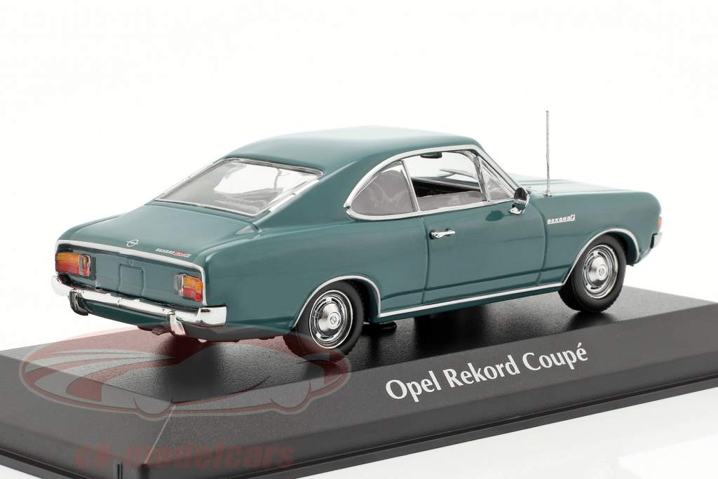 Opel Rekord C coupé année de construction 1966 bleu 1:43 Minichamps