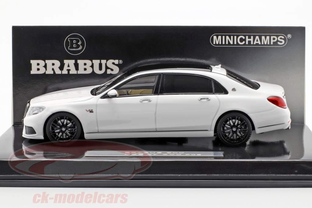 Maybach Brabus 900 basado en Mercedes-Benz Maybach S600 2016 blanco 1:43 Minichamps