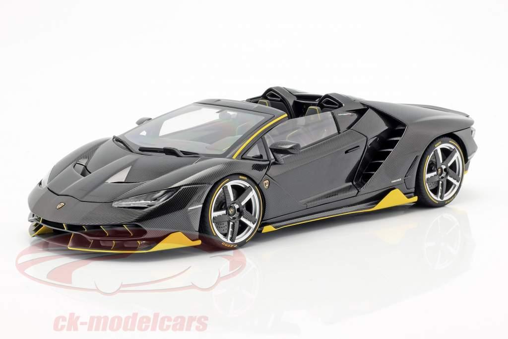 Lamborghini Centenario Roadster año de construcción 2016 clear carbon / amarillo 1:18 AUTOart