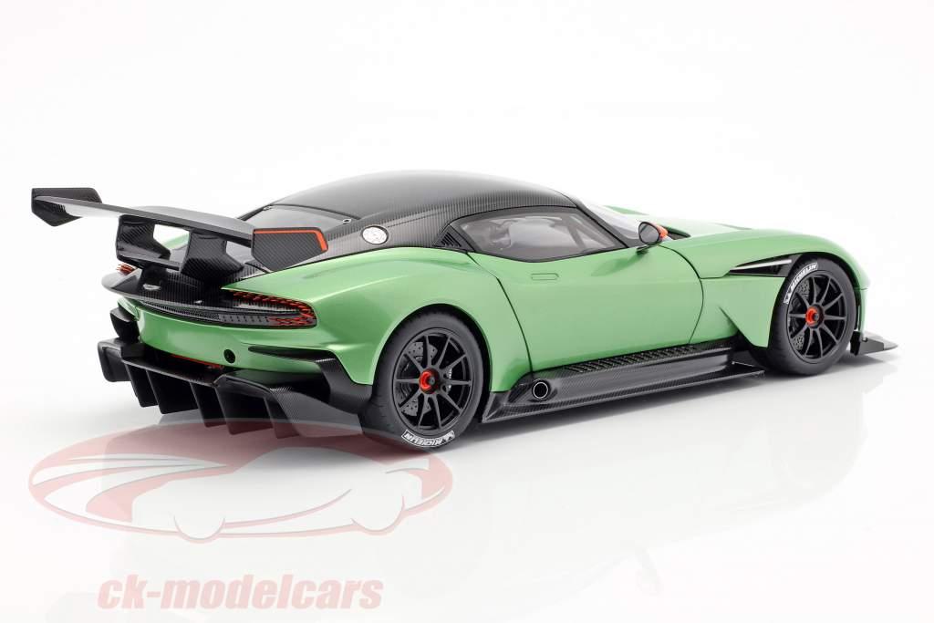 Aston Martin Vulcan ano de construção 2015 maçã árvore verde metálico 1:18 AUTOart