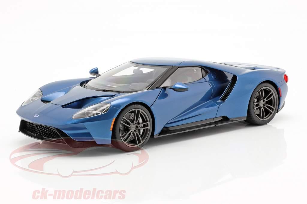 Ford GT año de construcción 2017 liquid azul 1:18 AUTOart
