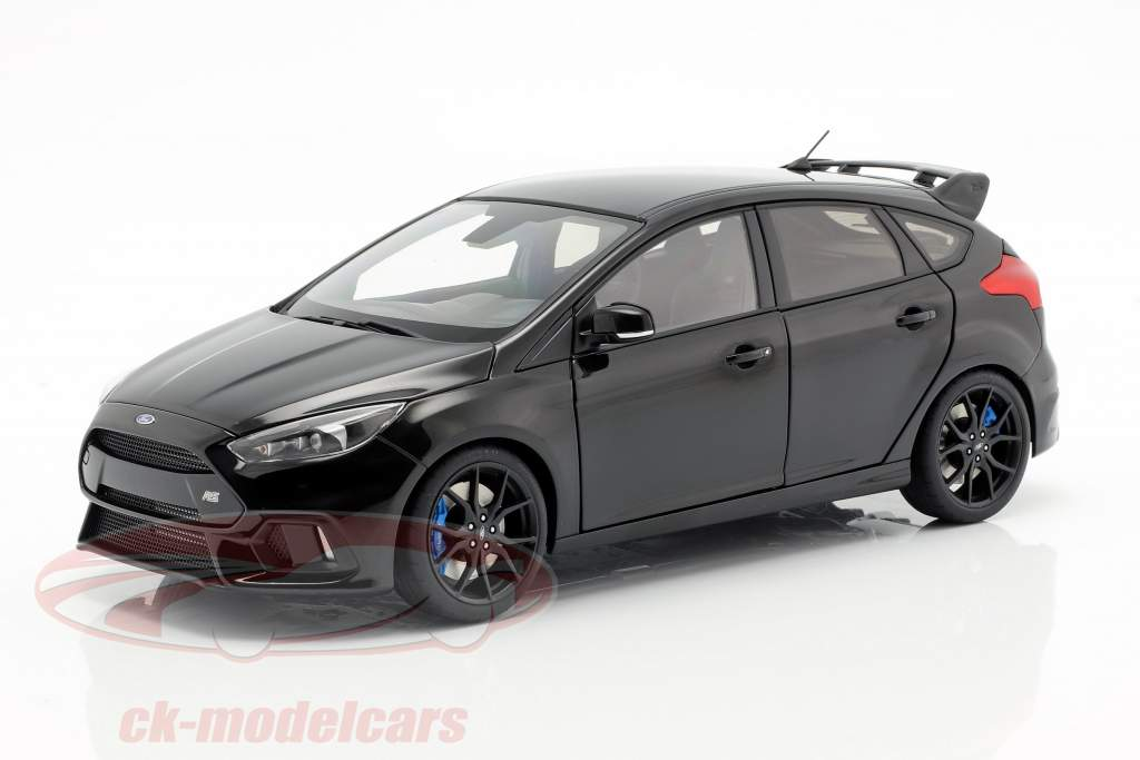 Ford Focus RS Bouwjaar 2016 schaduw zwart 1:18 AUTOart