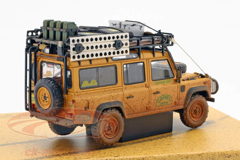 Land Rover Defender 110 Camel Trophy Support Unit 1993 Dirty Version 1:43 Almost Real