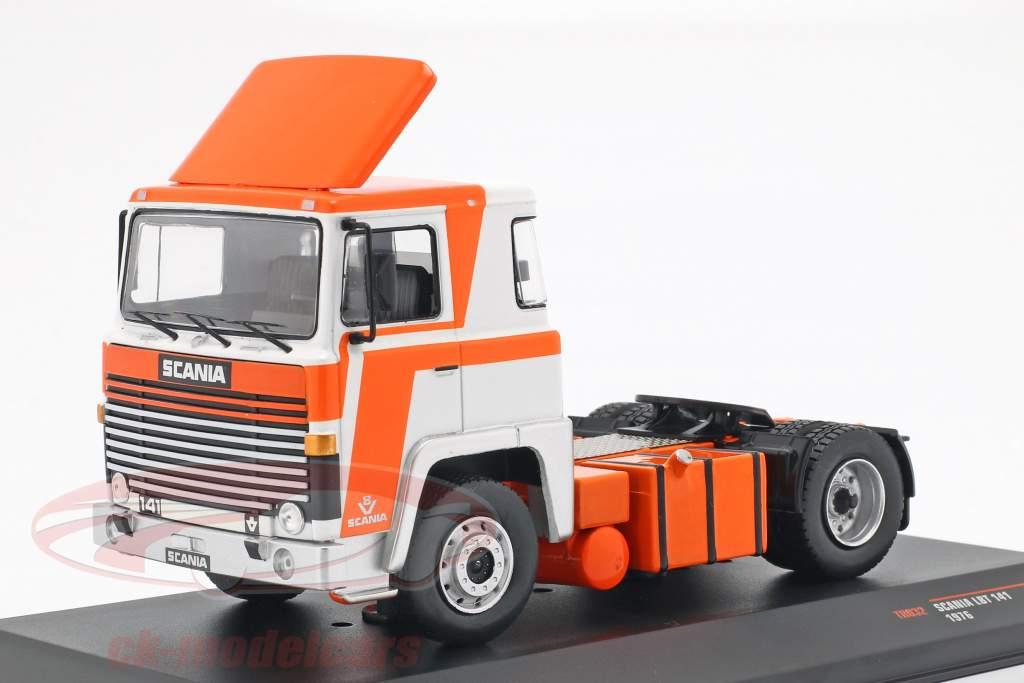 Scania LBT 141 Sattelzugmaschine Baujahr 1976 orange / weiß 1:43 Ixo