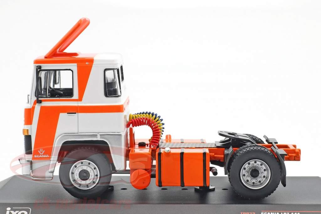 Scania LBT 141 lastbil Opførselsår 1976 appelsin / hvid 1:43 Ixo