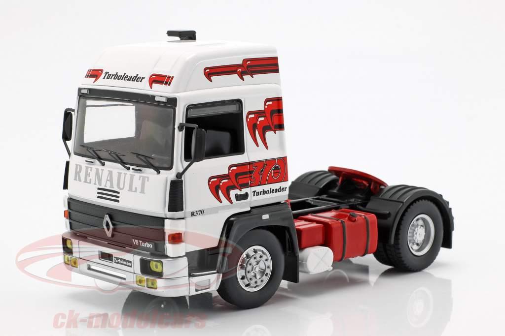 Renault R370 Turboleader semirremolque refrigerado año de construcción 1986 Wess / rojo 1:43 Ixo