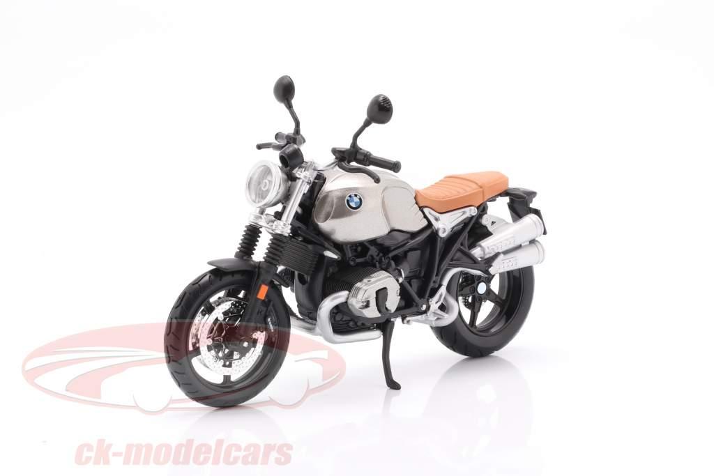 BMW R nineT Scrambler grey / silver / black 1:12 Maisto
