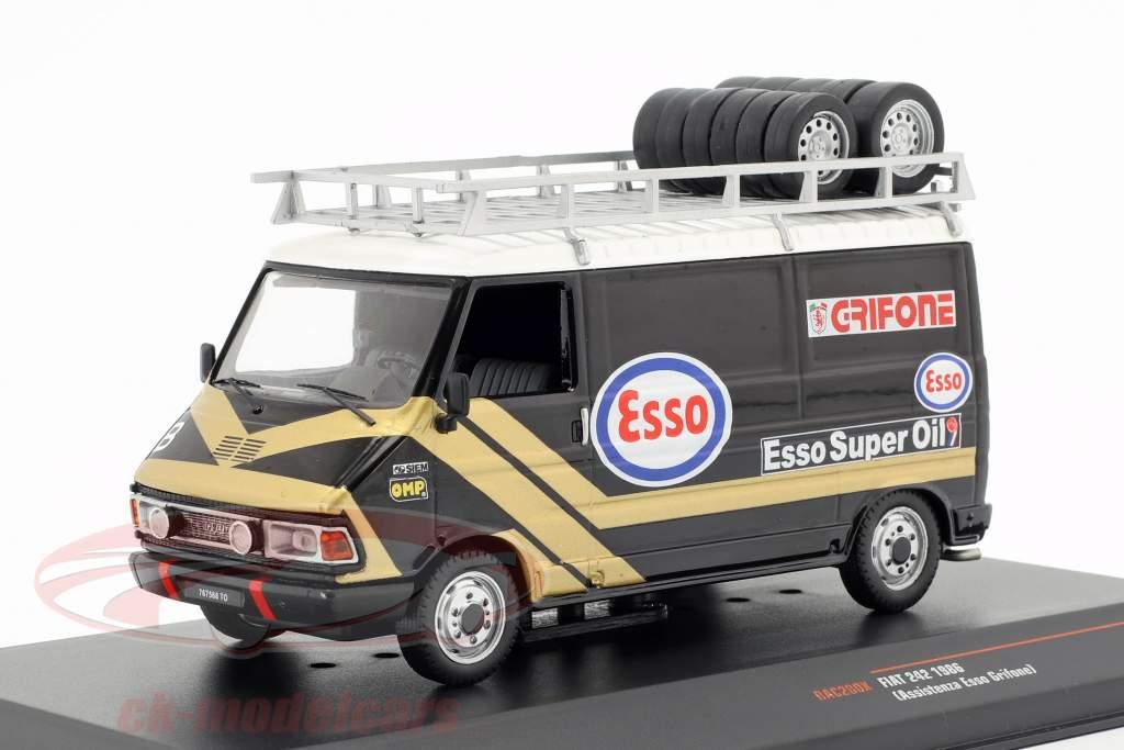 Fiat 242 busje Rallye Assistance Esso Grifone 1986 1:43 Ixo