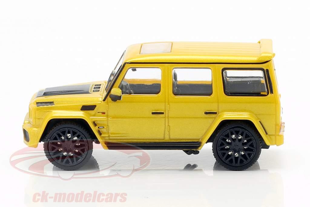 Brabus 850 6.0 Biturbo Widestar based on Mercedes-Benz AMG G63 year 2015 yellow 1:87 Minichamps