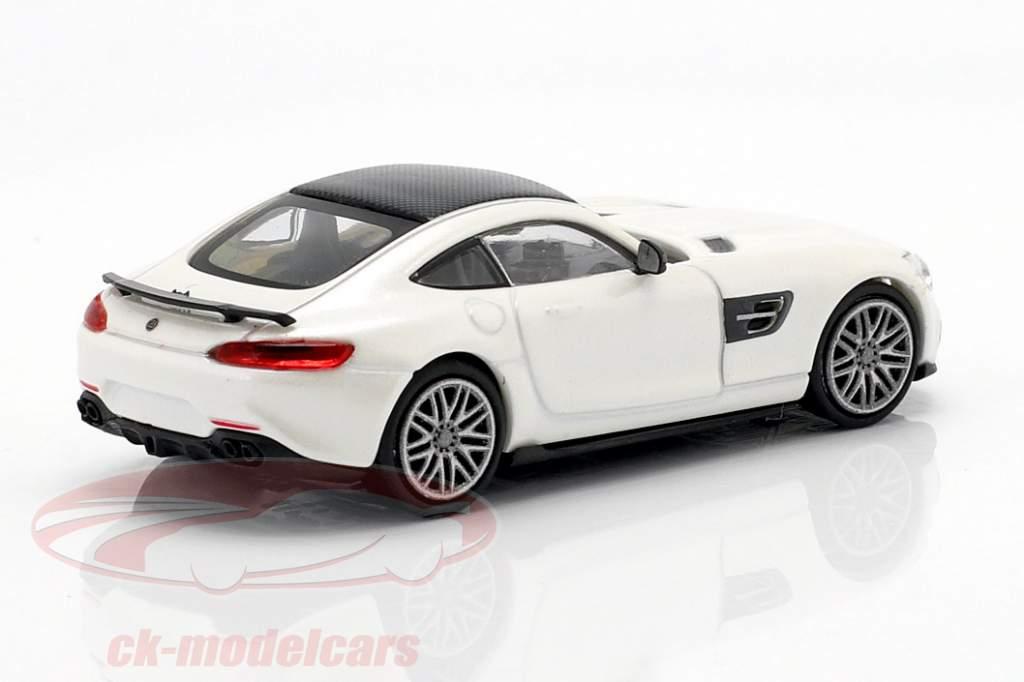 Brabus 600 basé sur Mercedes-Benz AMG GT S année de construction 2015 blanc métallique 1:87 Minichamps