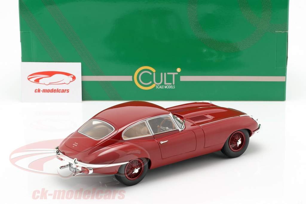 Jaguar E-Type coupe Series 2 year 1968 red 1:18 Cult Scale