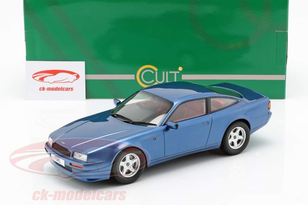 Aston Martin Virage année de construction 1988 bleu métallique 1:18 Cult Scale
