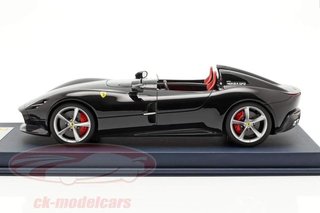 Ferrari Monza SP2 Opførselsår 2018 sort med udstillingsvindue 1:18 LookSmart