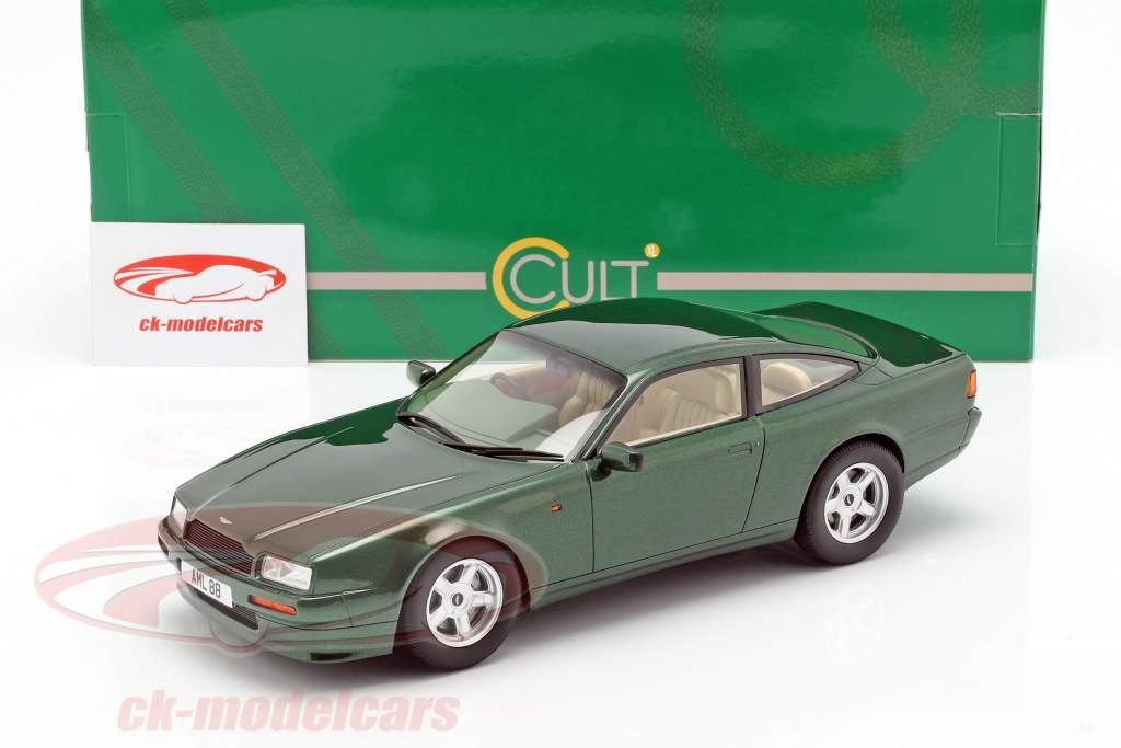 Aston Martin Vantage Bouwjaar 1988 donkergroen metalen 1:18 Cult Scale