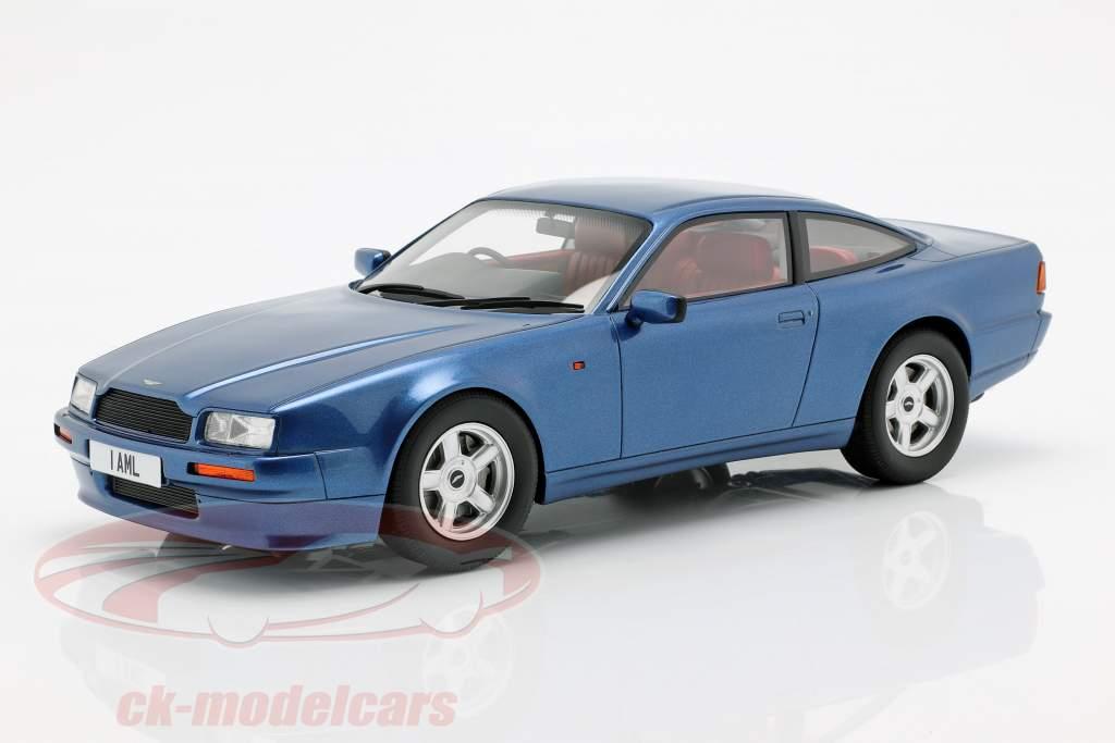 Aston Martin Virage Bouwjaar 1988 blauw metalen 1:18 Cult Scale