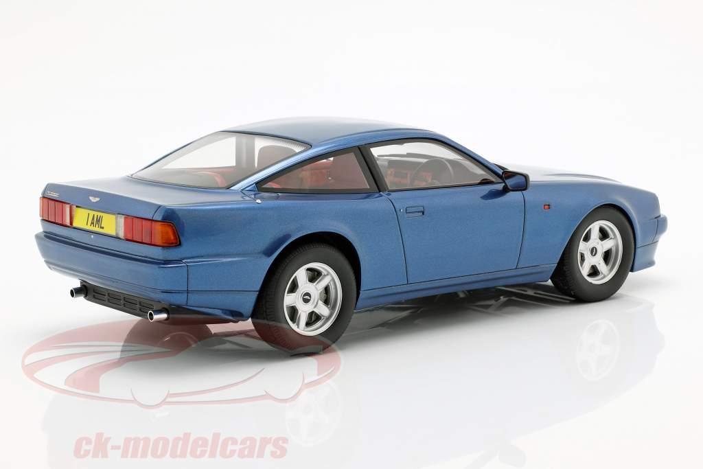 Aston Martin Vantage Bouwjaar 1988 blauw metalen 1:18 Cult Scale