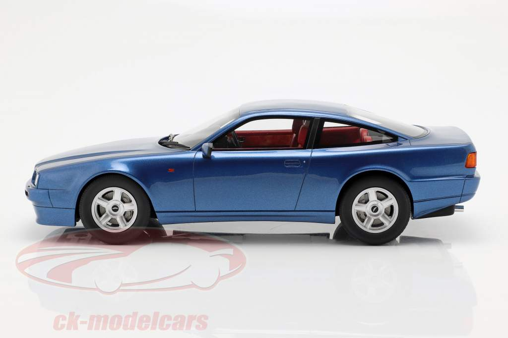 Aston Martin Vantage year 1988 blue metallic 1:18 Cult Scale