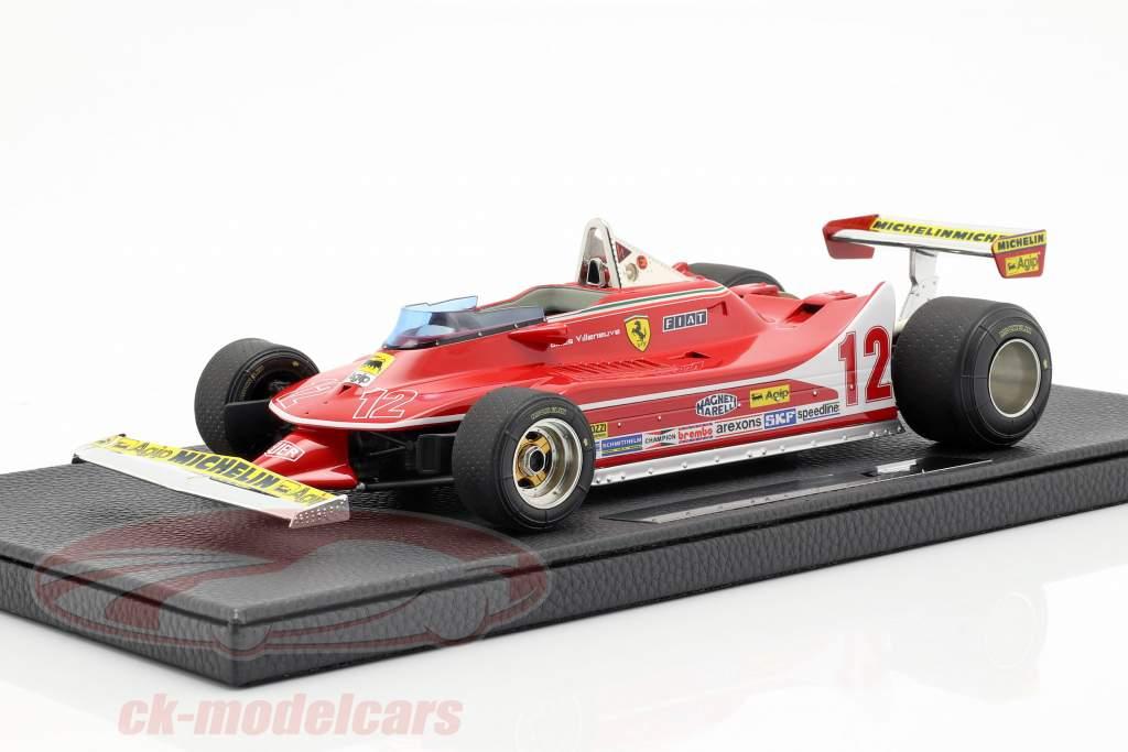 G. Villeneuve Ferrari 312T4 #12 segundo francés GP F1 1979 1:18 GP Replicas
